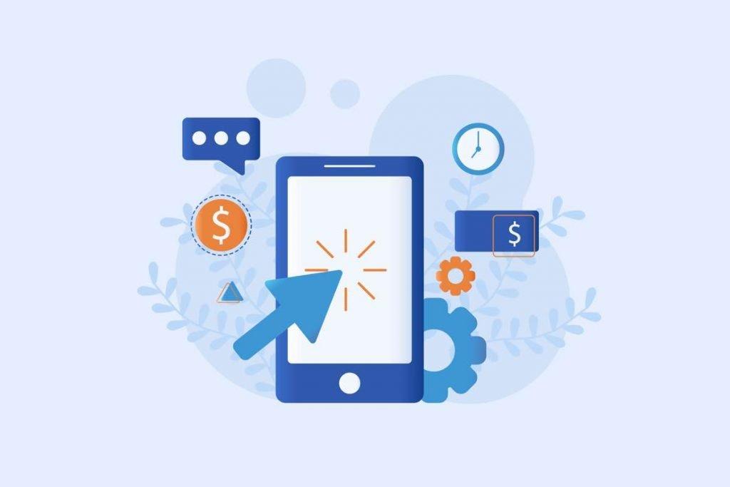 Ilustración representando CPC, CPM y CPA como formas de pago en publicidad digital