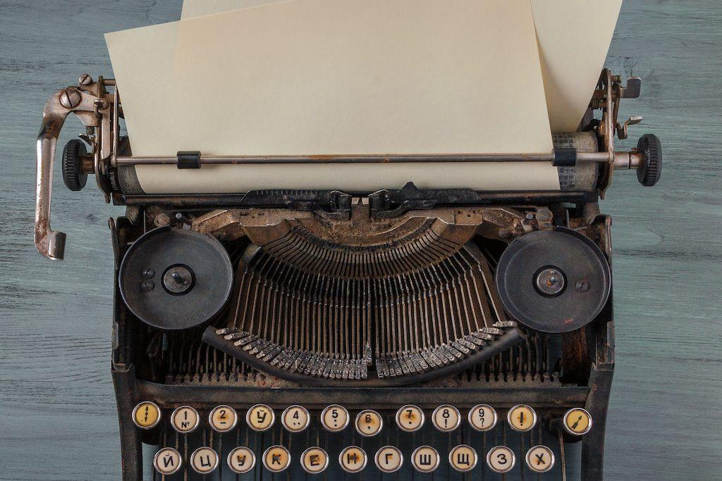 máquina de escribir antigua haciendo referencia a los post antiguos del blog