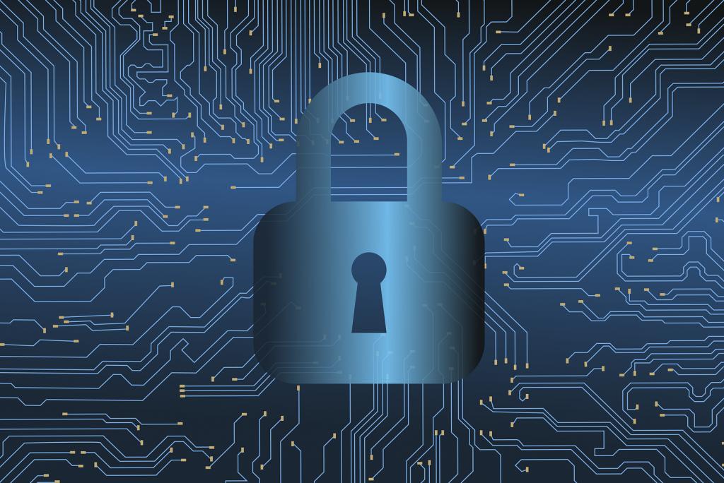 imagen de un candado representando la ciberseguridad