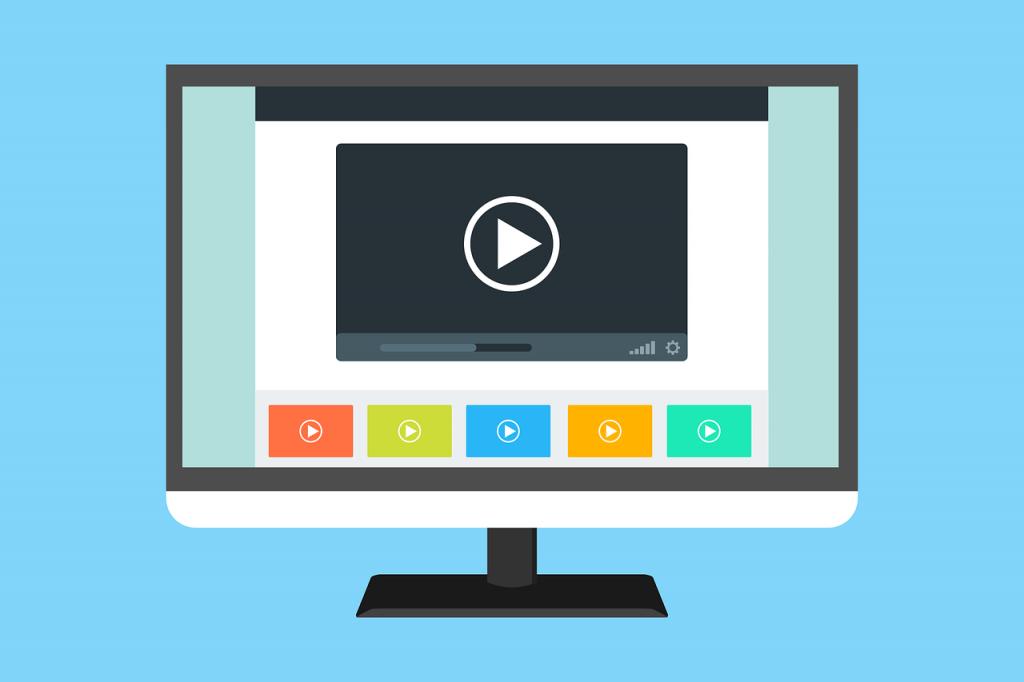 ilustración de una pantalla de ordenador mostrando un video
