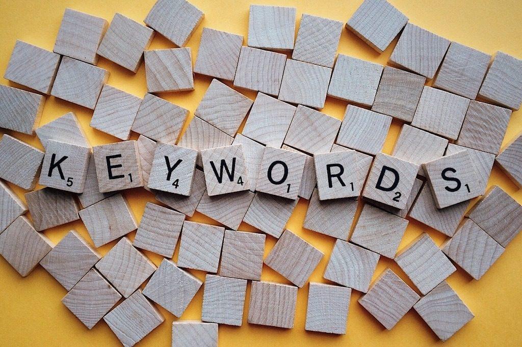 fichas que muestran palabra keywords