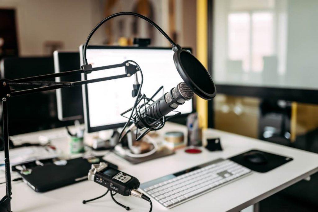 Micrófono especializado en la grabación de podcast