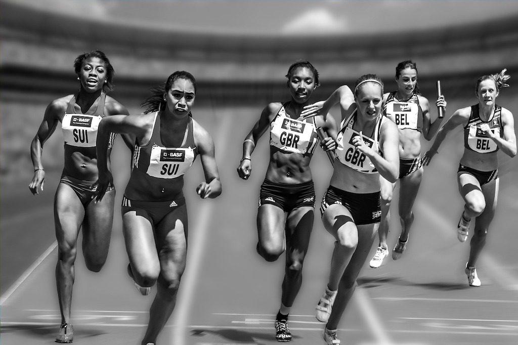 carrera de atletismo femenino