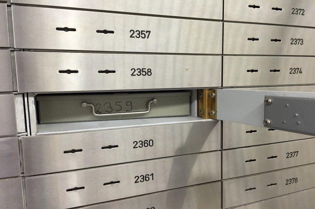cajas de seguridad de banco
